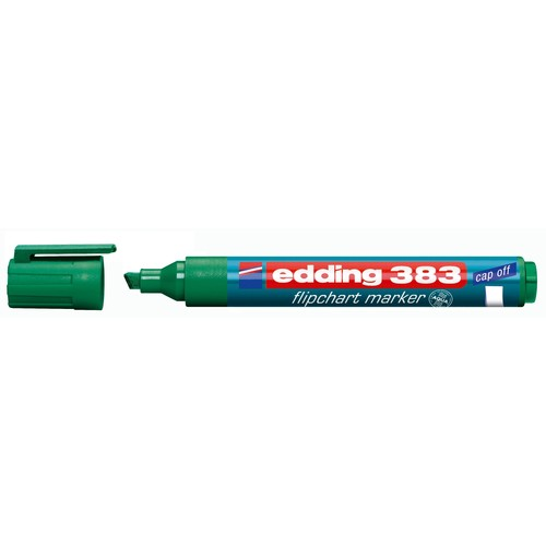 Flipchartmarker 383 1-5mm Keilspitze grün Edding 4-383004 Produktbild