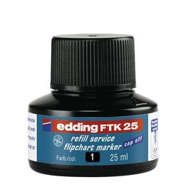 Flipchartmarker-Nachfülltusche FTK25 für 380+383 25ml schwarz Edding 4-FTK25001 Produktbild