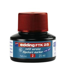 Flipchartmarker-Nachfülltusche FTK25 für 380+383 25ml rot Edding 4-FTK25002 Produktbild