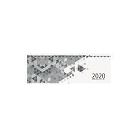 Querkalender 2020 30x10cm 1Woche/1Seite grau Spiralbindung Zettler 146-0003 Produktbild