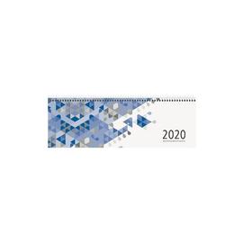 Querkalender 2020 30x10cm 1Woche/1Seite blau Spiralbindung Zettler 146-0015 Produktbild