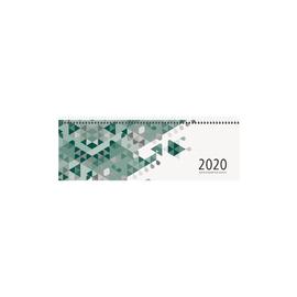 Querkalender 2020 30x10cm 1Woche/1Seite grün Spiralbindung Zettler 146-0013 Produktbild