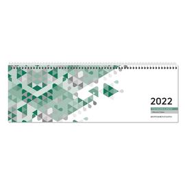 Querkalender 2022 30x10cm 1Woche/1Seite grün Spiralbindung Zettler 146-0013 Produktbild