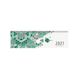 Querkalender 2021 36x10,5cm 1Woche/2Seiten grün Spiralbindung Zettler 136-0013 Produktbild