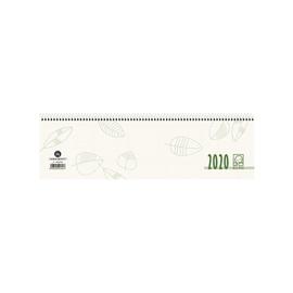 Querkalender 2020 36x10,5cm 1Woche/ 2Seiten grau/grün recycling Spiralbindung Zettler 136-0700 Produktbild