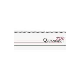 Querkalender 2020 32x11,5cm 1Woche/2Seiten weiß Spiralbindung Zettler 187-0002 Produktbild