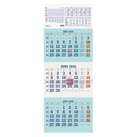 Dreimonatskalender 2020 29,5x80cm weiß/hellblau Zettler 952-0000 Produktbild