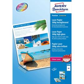 Fotopapier Laser+Kopier Premium Colour A4 200g weiß beidseitig high-glossy Zweckform 2798 (PACK=100 BLATT) Produktbild