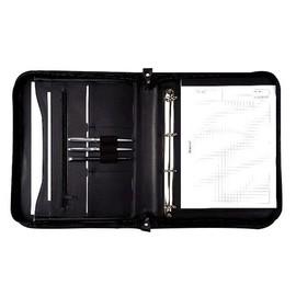 Ringbuchmappe mit Reißverschluss A4 LIMONE schwarz Lederimitat Alassio 30043 Produktbild