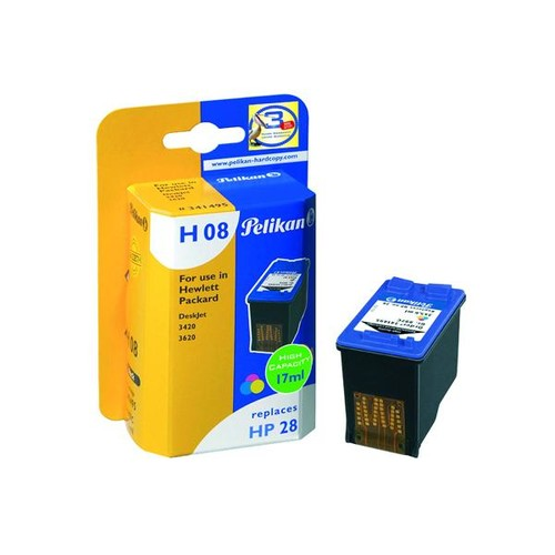 Tintenpatronen Gr. 997C (C8728A) für DeskJet 3320/3425/3645 17ml farbig Pelikan 341495 Produktbild Front View L