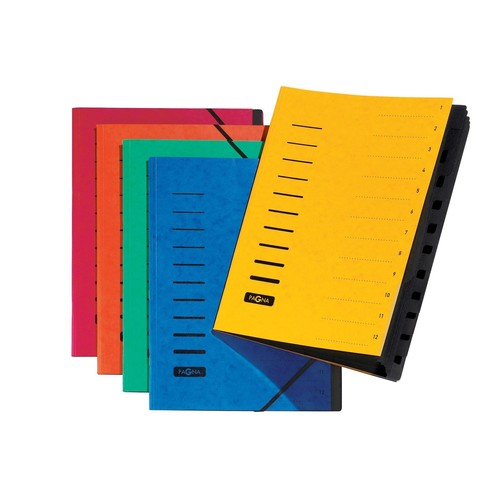 Ordnungsmappe mit 12 Fächern blau Karton 40059-02 Produktbild Additional View 1 L