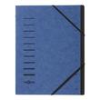 Ordnungsmappe mit 12 Fächern blau Karton 40059-02 Produktbild