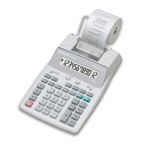 Tischrechner 12-stelliges LC-Display 150x230x51,5mm zweifarbiger Druck Batteriebetrieb Sharp EL-1750V Produktbild Front View L