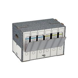 Archiv-Ablagebox 50,5x30x33cm anthrazit/weiß Karton NIPS 152505124 Produktbild