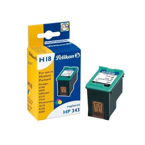 Tintenpatrone Gr. 1024 (C8766EE) für DeskJet 460C/5740/6620 14ml farbig Pelikan 351579 Produktbild Front View L