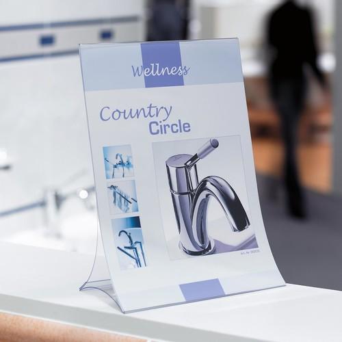 Tischaufsteller klappbar für einseitige Präsentation A5 glasklar Hartplastik Sigel TA161 (PACK=2 STÜCK) Produktbild Additional View 5 L
