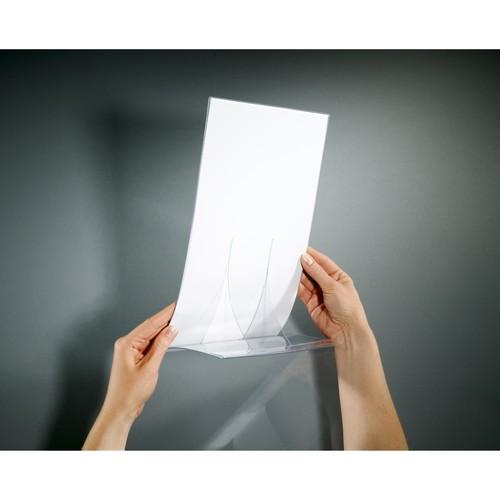 Tischaufsteller klappbar für einseitige Präsentation A5 glasklar Hartplastik Sigel TA161 (PACK=2 STÜCK) Produktbild Additional View 4 L