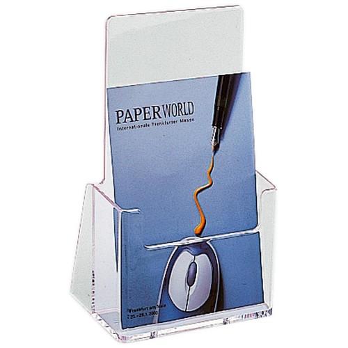Tisch-Prospekthalter 1x A5 166x67x210mm glasklar Helit H2352102 Produktbild Front View L