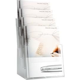 Tisch-Prospekthalter 4x A4 240x192x340mm glasklar Helit H2352402 Produktbild