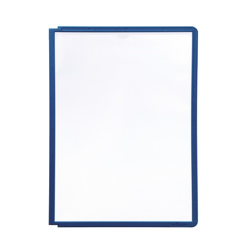 Sichttafeln SHERPA A4 für Tafelträger dunkelblau Durable 5606-07 (PACK=5 STÜCK) Produktbild Additional View 2 L