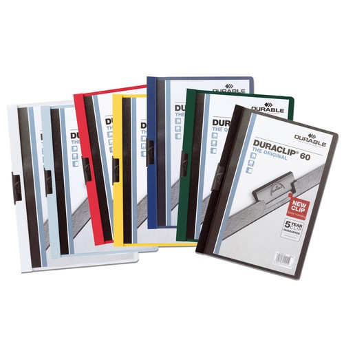 Klemmmappe Duraclip60 A4 bis 60Blatt anthrazit/grau Hartfolie Durable 2209-57 Produktbild Additional View 2 L