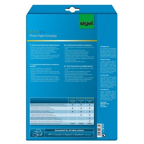 Fotopapier Inkjet Everyday Plus A4 170g weiß high-glossy Sigel IP713 (PACK=20 BLATT) Produktbild