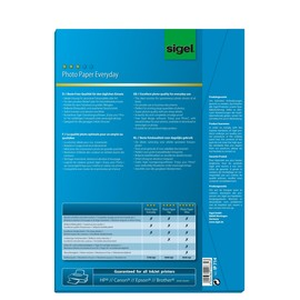 Fotopapier Inkjet Everyday Plus A4 170g weiß high-glossy Sigel IP714 (PACK=50 BLATT) Produktbild
