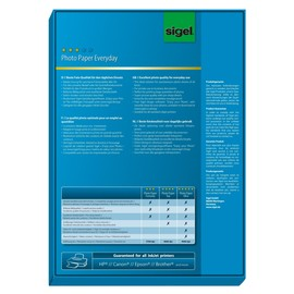 Fotopapier Inkjet Everyday Plus A4 200g weiß high-glossy Sigel IP712 (PACK=100 BLATT) Produktbild