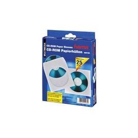 CD/DVD Leerhülle weiß Papier Hama 000511179 (PACK=25 STÜCK) Produktbild