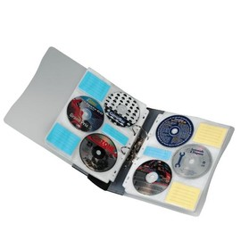 CD-Ringbuch für 120 CD's transparent/graphit Hama 00062612 Produktbild