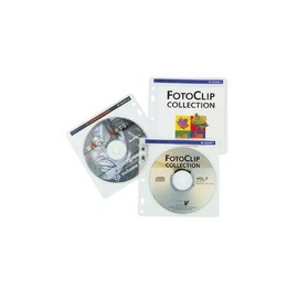 CD-Pockets 40 mit Vlieseinlage für je 2 CDs transparent-weiß Hama 00048444 (PACK=40 STÜCK) Produktbild