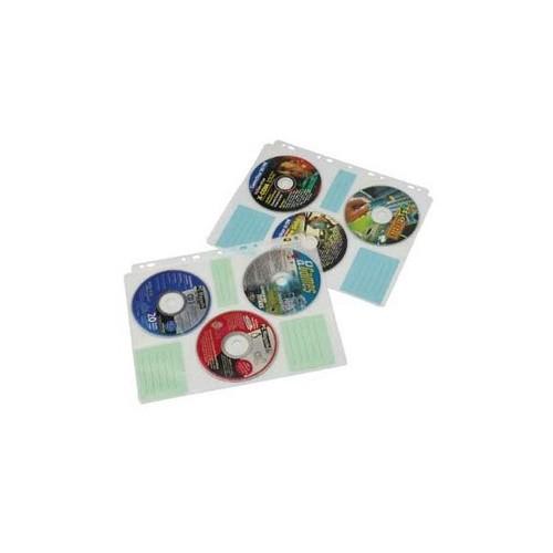 CD/DVD/Blu-Ray Index-Hülle für je 6 CDs/DVDs/Blue-Rays transparent-weiß Hama 00049835 (PACK=10 STÜCK) Produktbild Front View L
