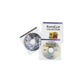 CD-Pockets 100 Leerhülle für je 2 CDs transparent-weiß Hama 00062611 (PACK=100 STÜCK) Produktbild