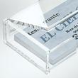 Visitenkartenbox 100x30x65mm für 80Karten glasklar Acryl Sigel VA112 Produktbild Additional View 1 S