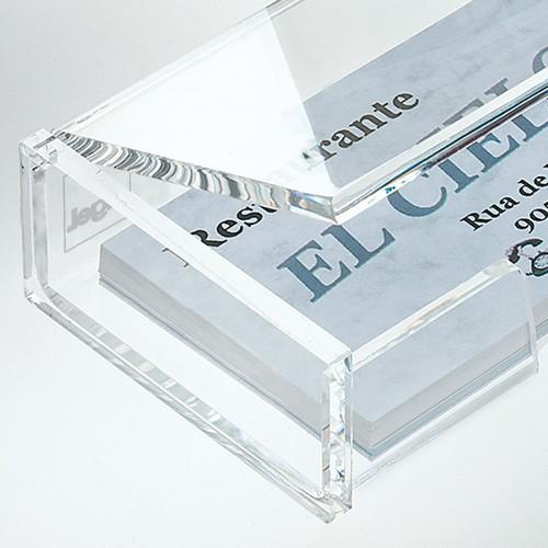 Visitenkartenbox 100x30x65mm für 80Karten glasklar Acryl Sigel VA112 Produktbild Additional View 1 L