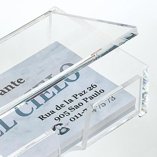 Visitenkartenbox 100x30x65mm für 80Karten glasklar Acryl Sigel VA112 Produktbild Additional View 2 L