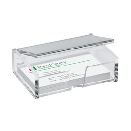 Visitenkartenbox 100x30x65mm für 80Karten glasklar Acryl Sigel VA112 Produktbild