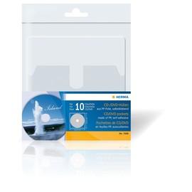 CD/DVD Hülle selbstklebend mit Sicherungslasche 129x130mm für 1 CD/DVD transparent PP Herma 7688 (PACK=10 STÜCK) Produktbild