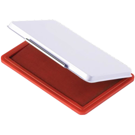 Stempelkissen Größe 2 7x11cm rot Metall BestStandard KF25212 Produktbild