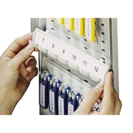 Schlüsselleiste Erweiterungssatz 2 Leisten für je 6 Schlüsselanhänger grau Kunststoff Durable 1958-10 Produktbild