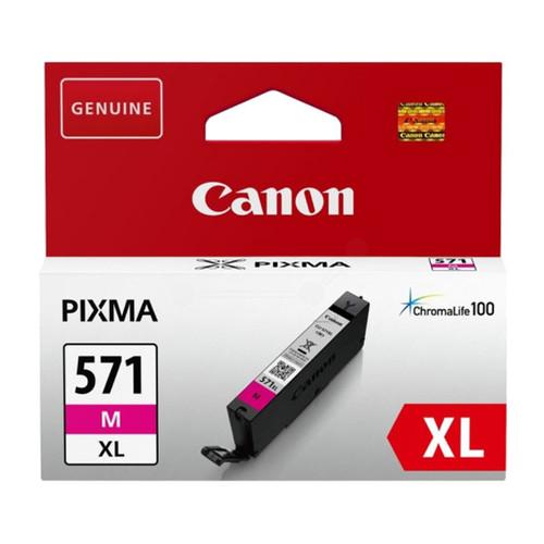 Tintenpatrone CLI-571XL für Canon Pixma MG5700/5750 11ml magenta Canon 0333C001 Produktbild Front View L