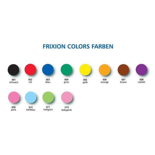 Fasermaler FriXion Color Rundspitze Etui Pilot SW-FC-S6 (ETUI=6 STÜCK) Produktbild Additional View 1 L