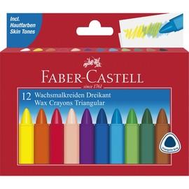 Wachsmalstifte Kartonetui sortiert dreikantform Faber Castell 120010 (PACK=12 STÜCK) Produktbild