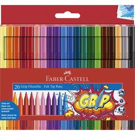Fasermaler Grip Colour Marker Etu sortiert Faber Castell 155320 (ETUI=20 STÜCK) Produktbild