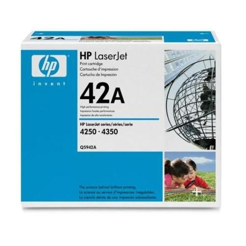 Toner 42A für LaserJet 4250/4350/4240 10000Seiten schwarz HP Q5942A Produktbild Front View L