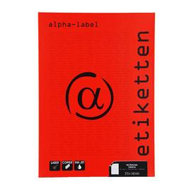 Etiketten Inkjet+Laser+Kopier 210x148mm auf A4 Bögen weiß 5925 (PACK=200 STÜCK) Produktbild