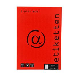 Etiketten Inkjet+Laser+Kopier 70x37mm auf A4 Bögen weiß 5913 (PACK=2400 STÜCK) Produktbild