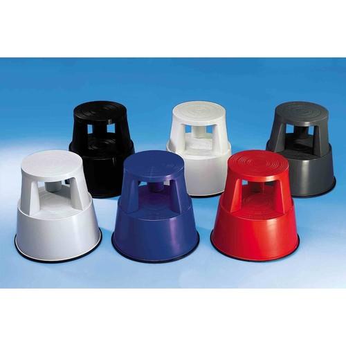 Rollhocker fahrbar Tragkraft 150kg lichtgrau bruchfester Kunststoff Wedo 212.237 Produktbild Additional View 6 L