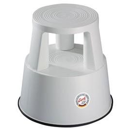 Rollhocker fahrbar Tragkraft 150kg lichtgrau bruchfester Kunststoff Wedo 212.237 Produktbild