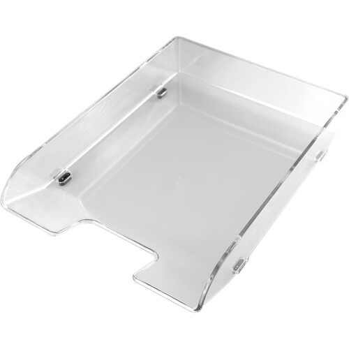 Briefkorb Elegant für A4 255x345x61mm glasklar kunststoff Helit H6101002 Produktbild Front View L